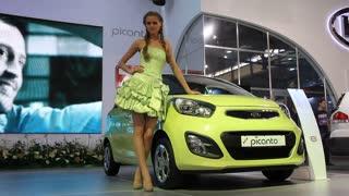 """KIEV, UKRAINE, MAY 26, 2011: KIA Picanto at yearly automotive-show """"SIA 2011""""."""