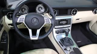 """KIEV, UKRAINE, MAY 26, 2011: Mercedes-Benz car interior at yearly automotive-show """"SIA 2011""""."""