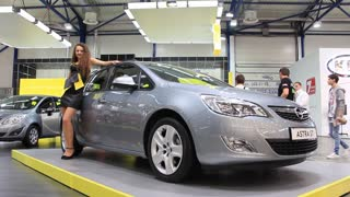 """KIEV, UKRAINE, MAY 26, 2011: Opel Astra ST at yearly automotive-show """"SIA 2011""""."""