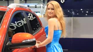 "KIEV, UKRAINE, MAY 26, 2011: Ssang Yong Korando at yearly automotive-show ""SIA 2011""."