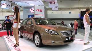 """KIEV, UKRAINE, MAY 27, 2012: BYD G6 at yearly automotive-show """"SIA 2011"""" in Kiev, Ukraine."""