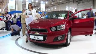"""KIEV, UKRAINE, MAY 27, 2012: Chevrolet Aveo at yearly automotive-show """"SIA 2011"""" in Kiev, Ukraine."""