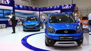 """KIEV, UKRAINE, MAY 27, 2012: Geely at yearly automotive-show """"SIA 2011"""" in Kiev, Ukraine."""