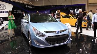 "KIEV, UKRAINE, MAY 27, 2012: Hyundai at yearly automotive-show ""SIA 2011"" in Kiev, Ukraine."