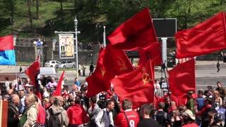 Kiev, Ukraine, May 31, 2010: Communist political meeting in Kiev, Ukraine