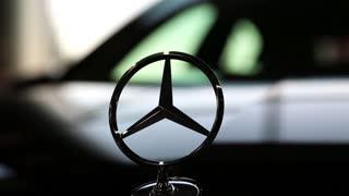 "KIEV, UKRAINE, SEPTEMBER 7, 2012: Mercedes-Benz at yearly automotive-show ""Capital auto show 2012"". September 7, 2012 in Kiev, Ukraine"