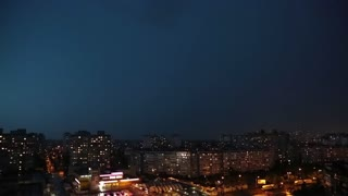 Lightning strike on a dark stormy night