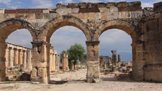 Main gate of Hierapolis ancient city. Turkey