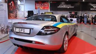 """McLaren Mercedes on motorshow """"Retro & Exotica"""" in Kiev, Ukraine"""