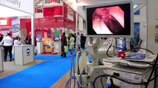 Medical equipment at medical exhibition