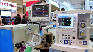Medical equipment on medical exhibition