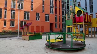 Merry-go-round on a childrens playground