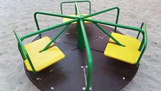 Merry-go-round on childrens playground
