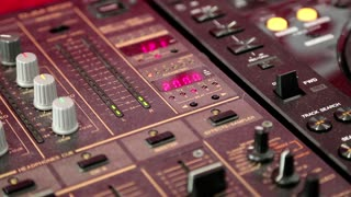 Mixing console video stock footage