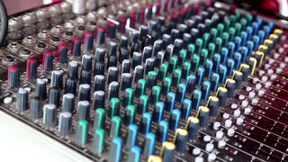 Mixing desk video stock footage