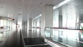 Modern interior of international airport