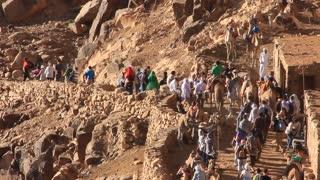 Moses Mountain. Pilgrims. Sinai peninsula, Egypt