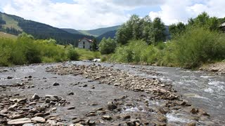 Mountain river in Carpathian Mountains