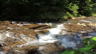 Mountain river video stock footage