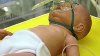 Neonatal complex. Medical complex for phototherapy, heating and neonatal resuscitation