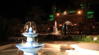 Night palace and fountain in Sharm El Sheikh, Egypt