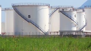 Oil storage tanks in Antalya, Turkey