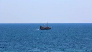 Old carvel in Mediterranean Sea, Tunisia, Sousse