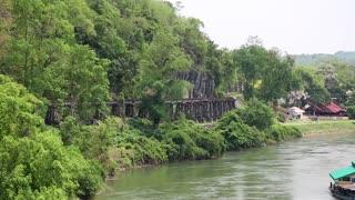 Old railroad near Kwai river in Thailand