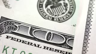 One hundred dollars. Federal Reserve System sign