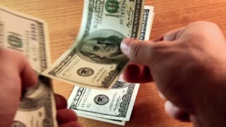 Payment in cash video stock footage