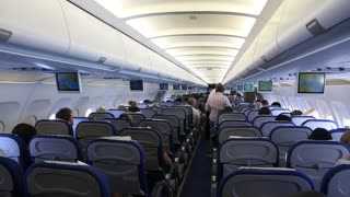 People aboard an airplane