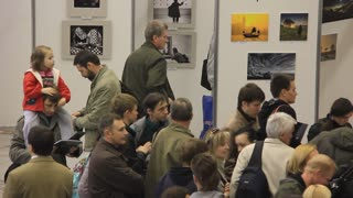 People at photo exhibition