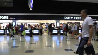 People in duty free store in airport
