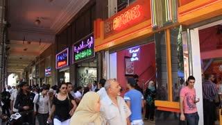 People in shopping area in Tunis, Tunisia