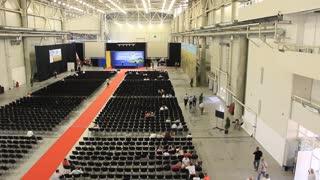 People inside presentation hall