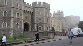 People near Windsor Castle, England