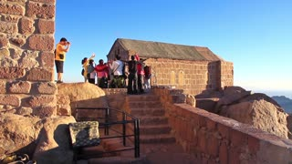 Pilgrims from China on Moses Mountain, Sinai Peninsula, Egypt. Mount Sinai, also known as Mount Horeb, is a mountain in the Sinai Peninsula of Egypt that is the traditional and most accepted identification of the Biblical Mount Sinai.
