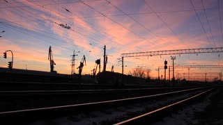 Railway and sunset