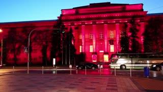 Red building of Kiev National University, Ukraine