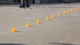 Roller-skate video stock footage