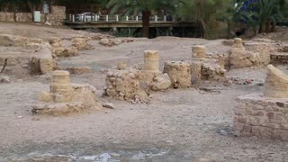 Ruins of ancient Ayla - medieval islamic city in present Aqaba city, Hashemite Kingdom of Jordan. Early islamic Ayla