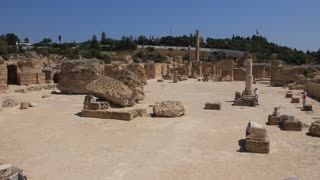 Ruins of ancient Carthage in Tunisia. Carthage is a major urban centre that has existed for nearly 3,000 years on the Gulf of Tunis, developing from a Phoenician colony of the first millennium BC.
