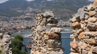 Ruins of old fortress wall, Alanya, Turkey