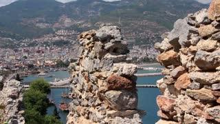 Ruins of old fortress wall Alanya, Turkey