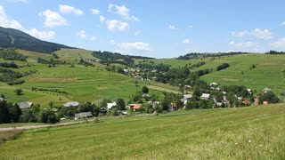 Rural area in Carpathian Mountains