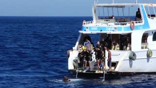 Scuba divers in Red Sea