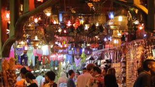 Shop with decorative lamps in Sharm El Sheikh, Egypt