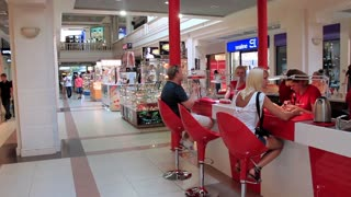 Shopping area and manicure section