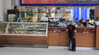 Snack bar video stock footage