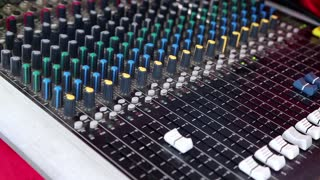 Sound board video stock footage